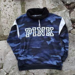 VS PINK Sherpa Cowl Neck Sweatshirt